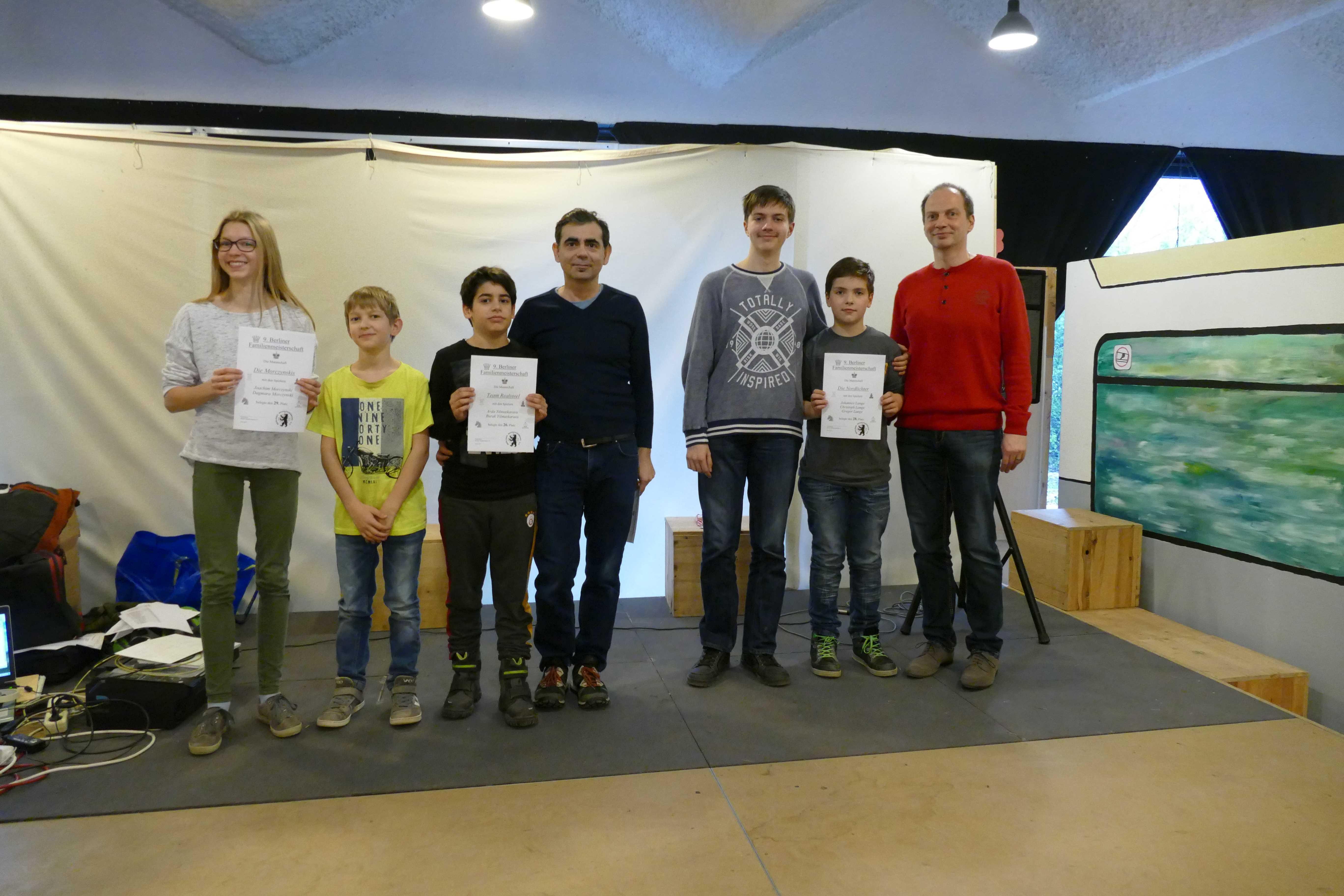 26. Platz bei der 9. Berliner Familienmeisterschaft